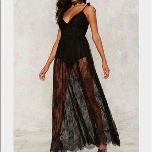 Nasty Gal | Lace Sheer Style Maxi Dress
